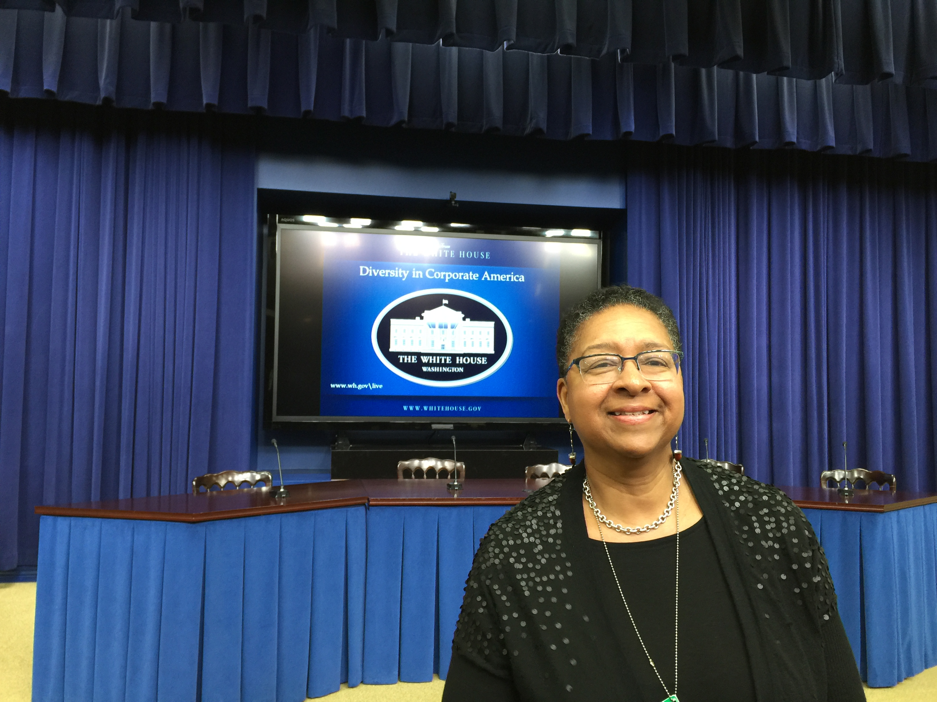 Kelley Chunn at the White House Conversation on Corporate Diversity.